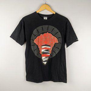 Crooks & Castles Black Medusa Greek Key T-Shirt M